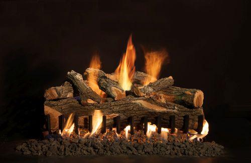 "30"" Arizona Weathered Oak 8 Piece Log Set"