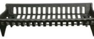 "30"" Black Cast Iron Fireplace Grate 6 5"" H x 30"" W x 15"" D"