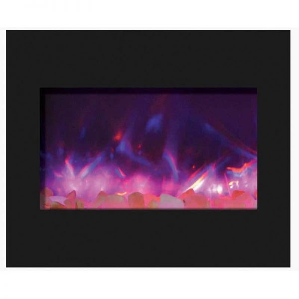 "30"" Zero Clearance Fireplace with 32"" x 26"" Black Glass Surround 1"