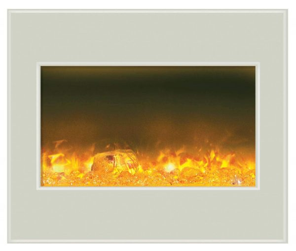 """30"""" Zero Clearance Unit with 32"""" x 26"""" White Glass Surround 1"""