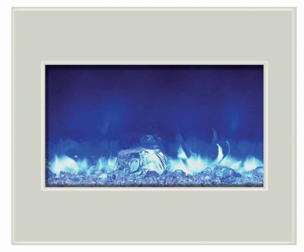 """30"""" Zero Clearance Unit with 32"""" x 26"""" White Glass Surround 2"""