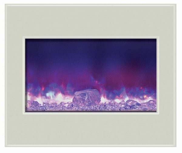 """30"""" Zero Clearance Unit with 32"""" x 26"""" White Glass Surround 3"""