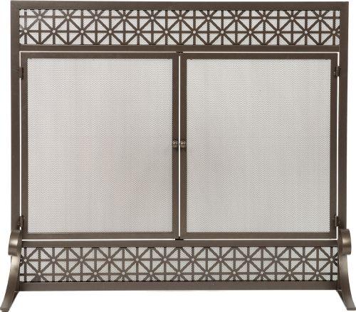 "34"" H X 39"" W Panel Screen Bronze With Filigree Design"