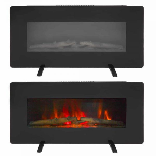 "36"" Electric Fireplace Heater Wall Mounted or Freestanding Infrared Electric Fireplace Stove with Remote Control 3"