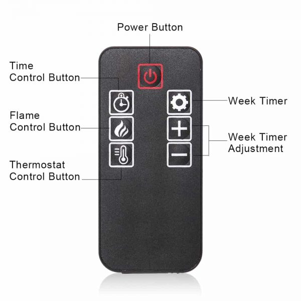 """36"""" Electric Fireplace Heater Wall Mounted or Freestanding Infrared Electric Fireplace Stove with Remote Control 7"""