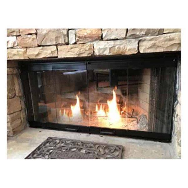 "36"" Fireplace Glass Door Set To Fit Heatilator Unit"