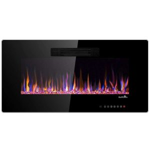 """36"""" Recessed Electric Fireplace In-wall Wall Mounted Electric Heater"""
