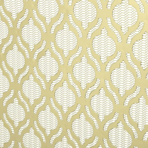 "39.5"" Gold Contemporary Single Paneled Fireplace Screen 5"