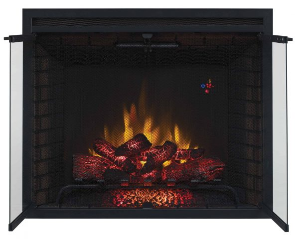 """39"""" Traditional Built-in Electric Fireplace Insert with Glass Door and Mesh Screen, Dual Voltage Option 3"""