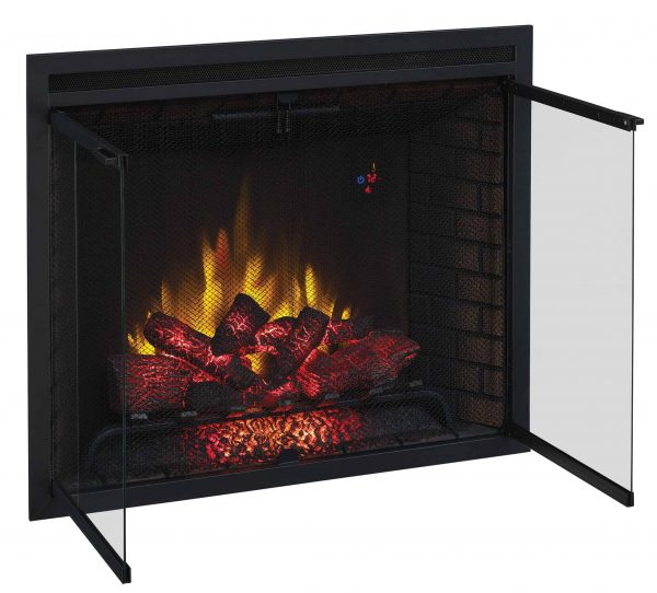 """39"""" Traditional Built-in Electric Fireplace Insert with Glass Door and Mesh Screen, Dual Voltage Option 5"""