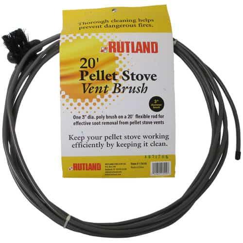 "3"" Pellet Stove/Dryer Vent Brush With 20' Flexible Handle"