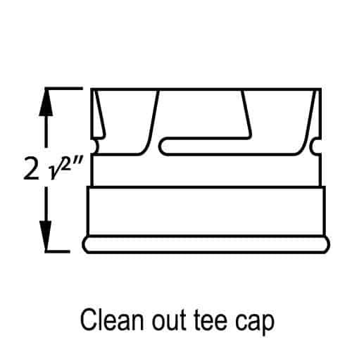"3"" Pellet Vent Pro Clean Out Cap, Stainless 2"
