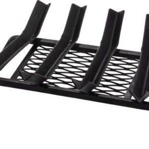 4 Bars Black Steel Grate - 17.5 inch