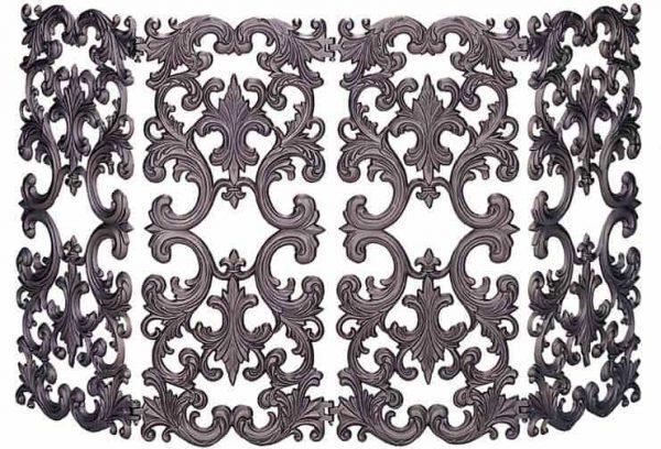 4 Fold Bronze Aluminum Screen