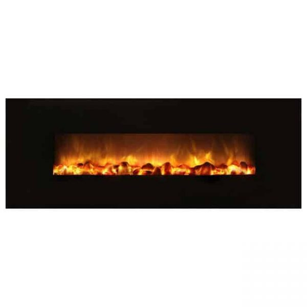 40 in. Slim Fire Electric Recessed & Wall Mounted Fireplace