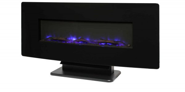 42-in Contemporary Curved Front Slim Line Wall Mount Infrared Electric Fireplace 13