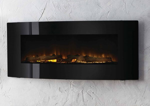 42-in Contemporary Curved Front Slim Line Wall Mount Infrared Electric Fireplace 5
