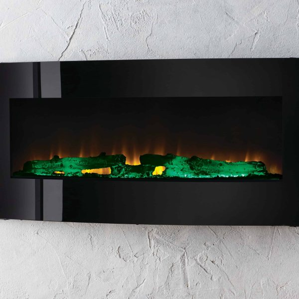 42-in Contemporary Curved Front Slim Line Wall Mount Infrared Electric Fireplace 6