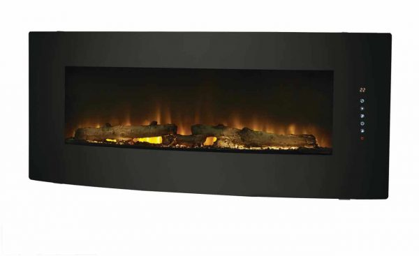 42-in Contemporary Curved Front Slim Line Wall Mount Infrared Electric Fireplace