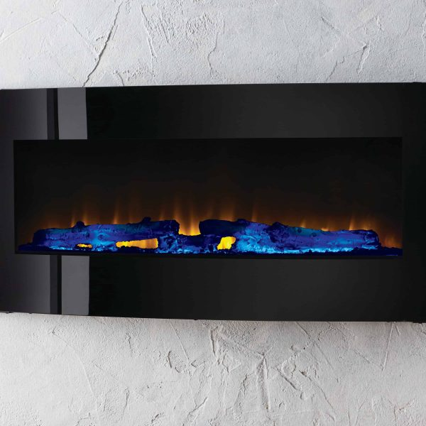 42-in Contemporary Curved Front Slim Line Wall Mount Infrared Electric Fireplace 7