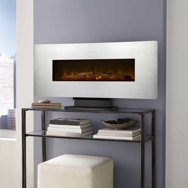 42-in Wall Mount Electric Fireplace in Zinc 1