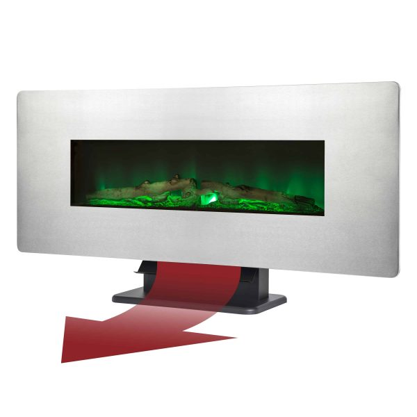 42-in Wall Mount Electric Fireplace in Zinc 2