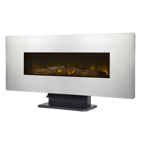 42-in Wall Mount Electric Fireplace in Zinc
