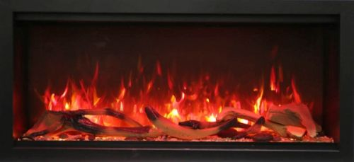 """42"""" Extra Tall Clean Face Symmetry Electric Fireplace w/Driftwood Logs"""