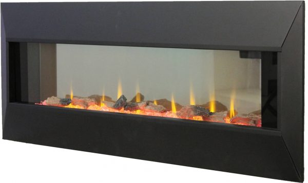 """42"""" On The Wall Fireplace with Mutiple Design Surrounds and 3D Flame and Remote 1"""
