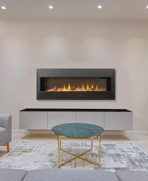 """42"""" On The Wall Fireplace with Mutiple Design Surrounds and 3D Flame and Remote 2"""
