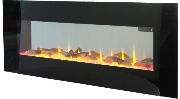 """42"""" On The Wall Fireplace with Mutiple Design Surrounds and 3D Flame and Remote 4"""