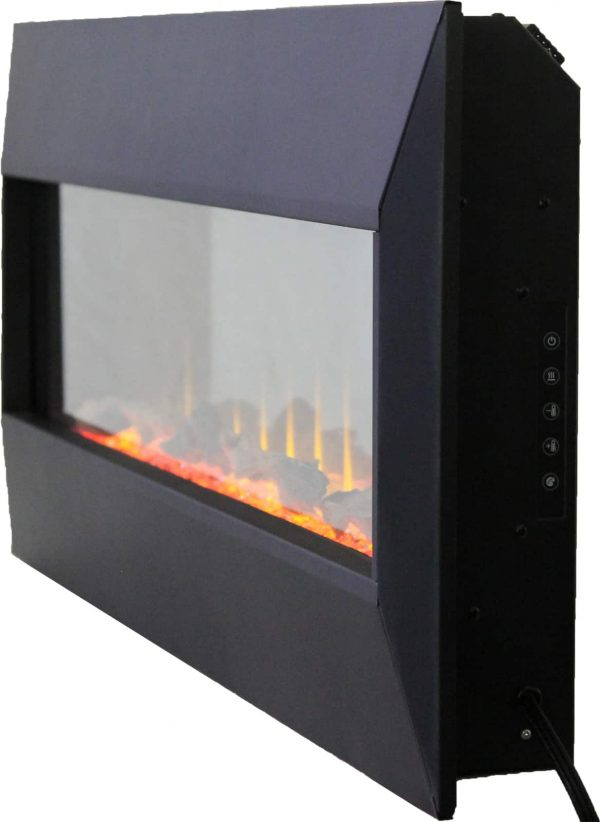 """42"""" On The Wall Fireplace with Mutiple Design Surrounds and 3D Flame and Remote 5"""