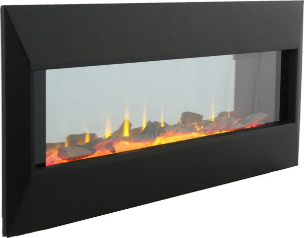 """42"""" On The Wall Fireplace with Mutiple Design Surrounds and 3D Flame and Remote 6"""