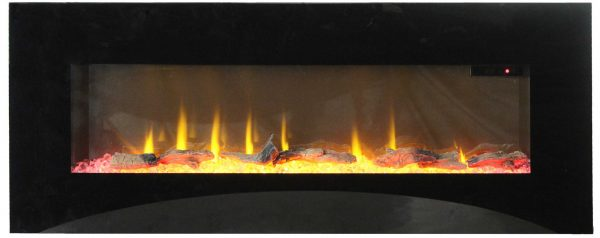 """42"""" On The Wall Fireplace with Mutiple Design Surrounds and 3D Flame and Remote"""