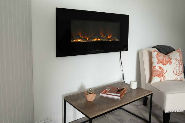 "42"" Wall Mount Electric Fireplace 1"