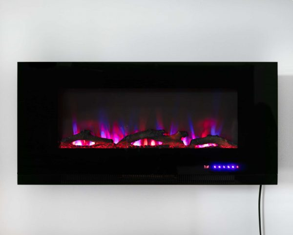 "42"" Wall Mount Electric Fireplace 14"
