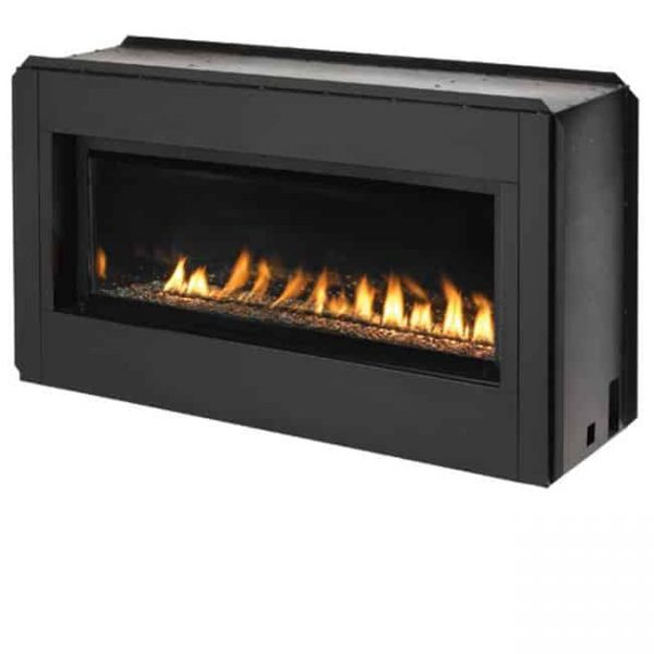 43 in. Linear Vent Free Fireplace - Black Porcelain