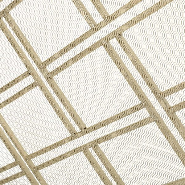 """44"""" Gold Contemporary Single Panel Fireplace Screen 5"""