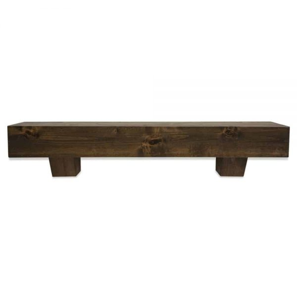48 in. Modern Farmhouse Dark Chocolate Fireplace Mantel With Corbels