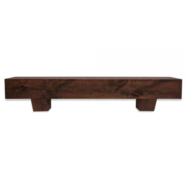 48 in. Modern Farmhouse Mahogany Fireplace Mantel With Corbels