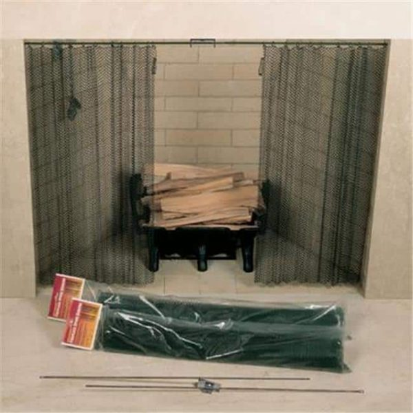 48in. X 24in. Fireplace Spark Screen - Rod Kit Not Included