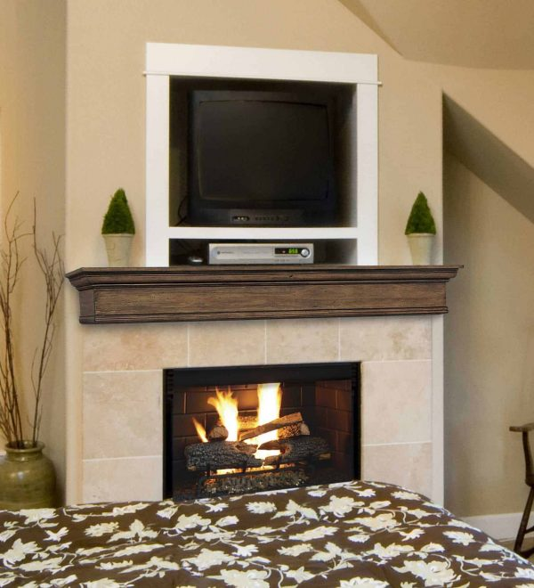 "48"" Sophisticated Unfinished Pine Wood Mantel Shelf"