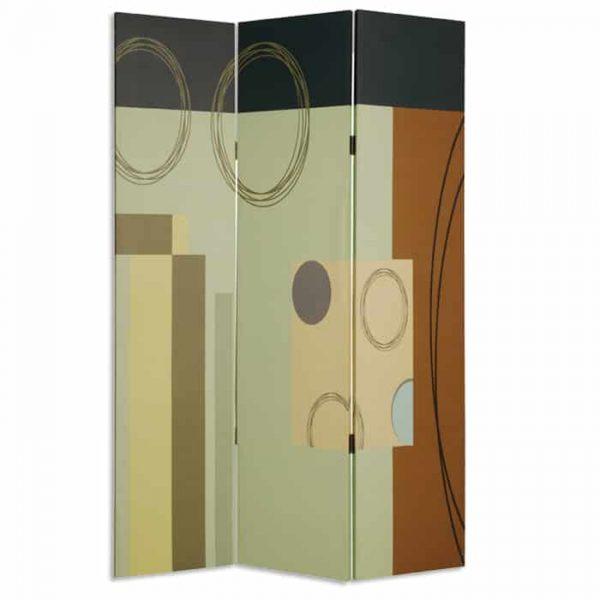 "48"" X 72"" Multi-Color Wood Canvas 3 Panel Screen"