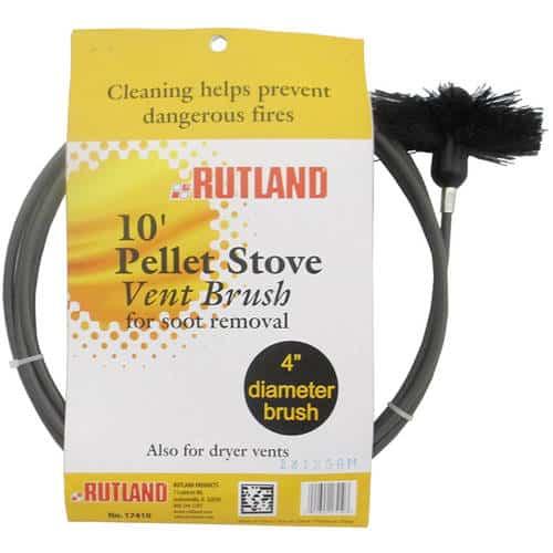 "4"" Pellet Stove/Dryer Vent Brush With 10' Flexible Handle"