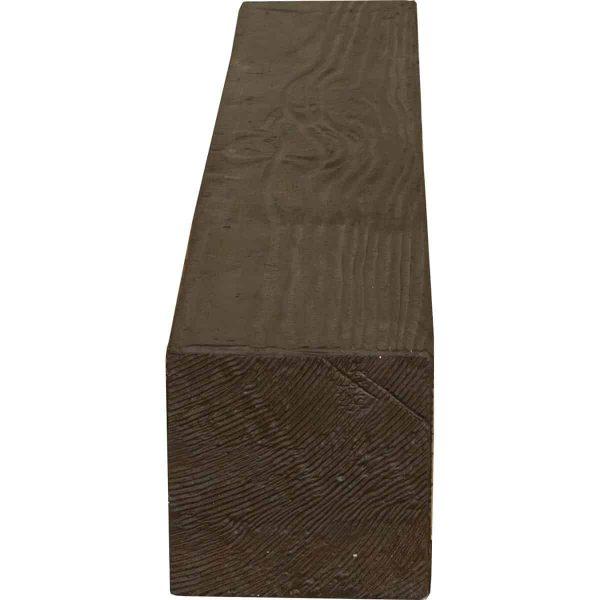 """4""""H x 4""""D x 60""""W Sandblasted Faux Wood Fireplace Mantel, Walnut Stain 2"""