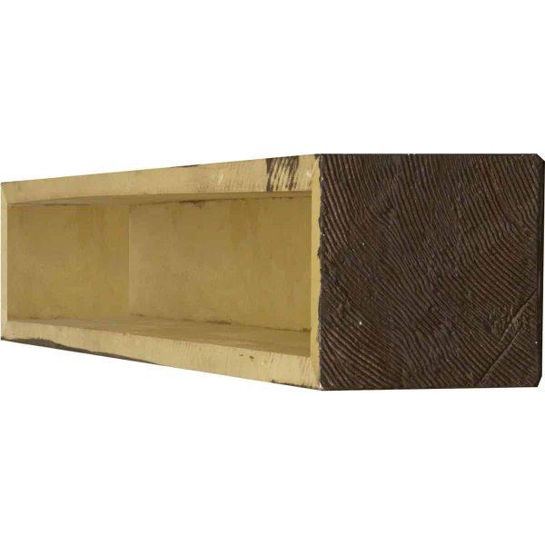 """4""""H x 4""""D x 60""""W Sandblasted Faux Wood Fireplace Mantel, Walnut Stain 3"""
