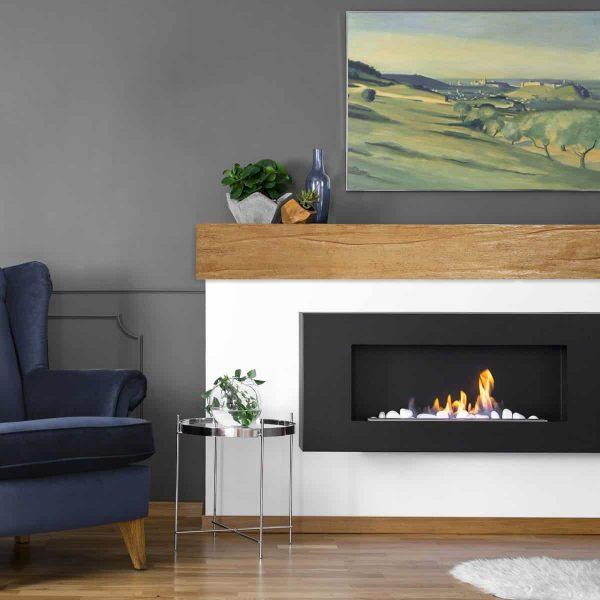 "4""H x 8""D x 84""W Riverwood Faux Wood Fireplace Mantel, Golden Oak 4"