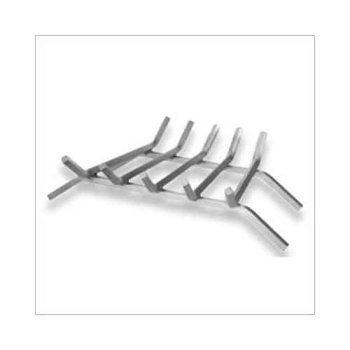 5-Bar Stainless Steel Fireplace Grate - 23 Inches