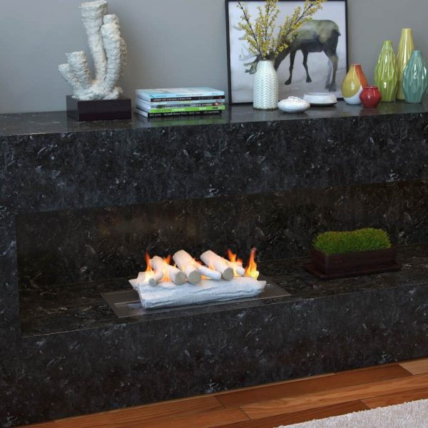 """5 Piece 16"""" Ceramic Wood Gas Fireplace Logs Logs for All Types of Indoor, Gas Inserts, Ventless & Vent Free, 1"""