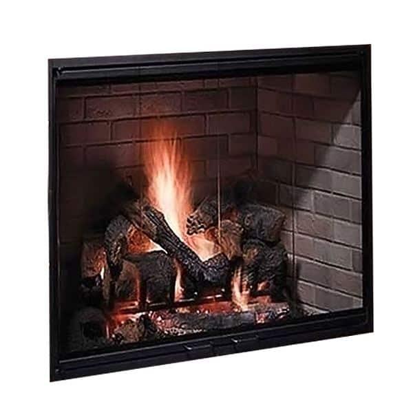 50 Radiant Wood Burning Fireplace w/Herringbone Brick Pattern